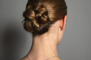 Plaited Low Chignon