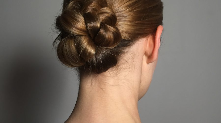 Plaited Low Chignon timelapse video