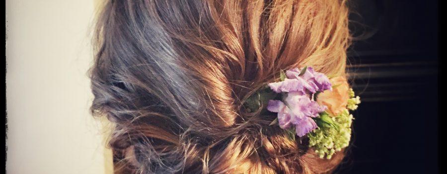wedding messy hair up