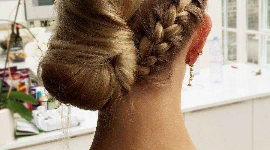 braided hair up